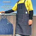 Johnbull/ジョンブル/レディース/メンズ/ブラックデニムワークエプロン(JA035)アウトドアBBQギフトプレゼント贈り物父の日