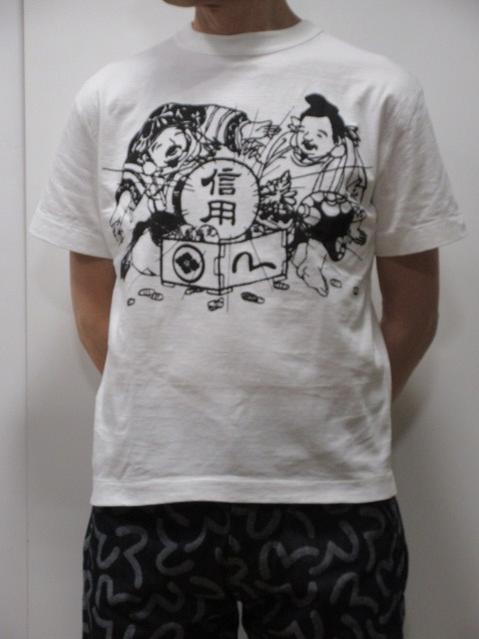 トップス, Tシャツ・カットソー EVISU AC T MADE IN JAPAN ETC5608NHWHT evisu