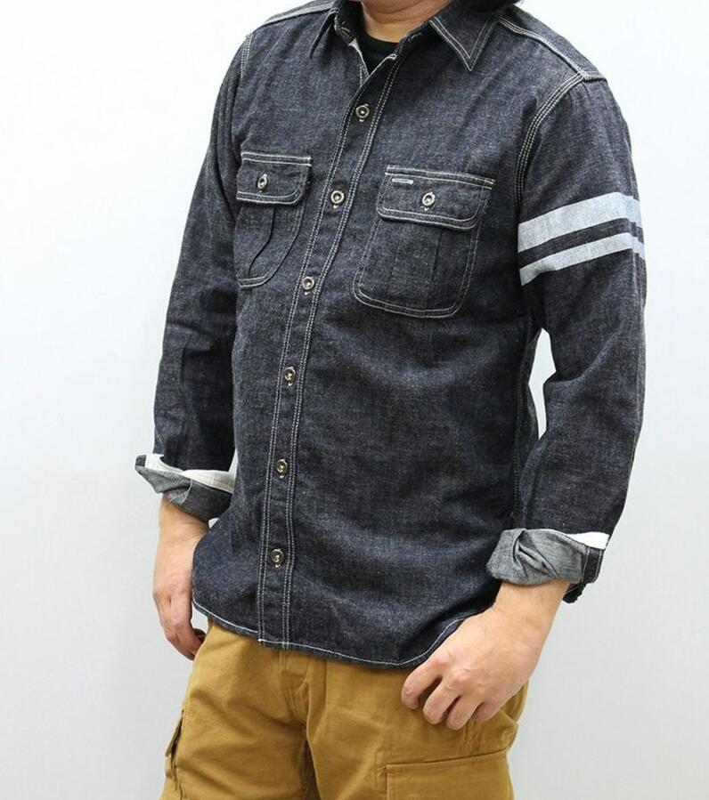トップス, カジュアルシャツ MOMOTARO JEANS 8 SJ091D ID 500