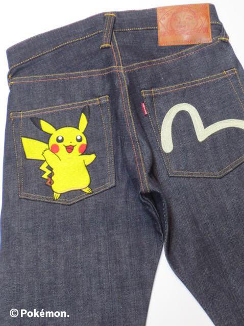 メンズファッション, ズボン・パンツ EVISU Lot.2000T No.2 Pokemon EGD3001PK001 ,evisu B