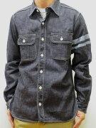 桃太郎ジーンズsj091d8オンス特濃デニムワークシャツ