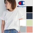 【Champion チャンピオン】 ウィメンズ ポケット Tシャツ C...
