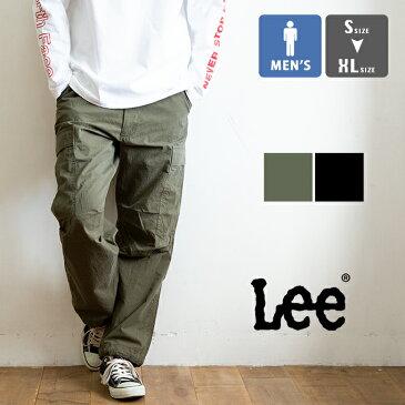 【 Lee リー 】 カーゴ イージー パンツ LM5939 / ゴムウエスト カーゴパンツ リラックスパンツ ルーズフィット ワイドパンツ ウエスト紐 裾絞り ボトム メンズ /