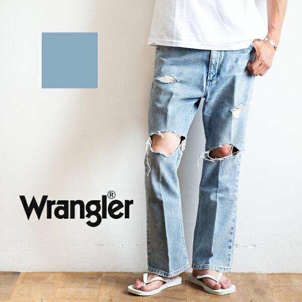 SALE  WRANGLERラングラー サンダルカットダメージジーンズWM1816/パンツボトムスズボンデニムジーパンダメージ