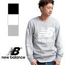 【new balance ニューバランス】NBビッグロゴ クルーネックスウェット MT83573 /トップス/長袖/スウ