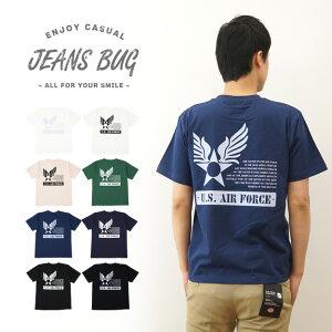オリジナルユーエスエアフォース ステンシル ミリタリー プリント Tシャツ アメリカ レディース