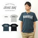 楽天『NASHVILLE』 JEANSBUG ORIGINAL PRINT T-SHIRT オリジナルナッシュビル アメカジプリント 半袖Tシャツ シンプル 英字 メンズ レディース 大きいサイズ ビッグサイズ対応 【ST-NASH】
