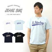 PETERSBURG オリジナルセントピーターズバーグ アメカジプリント Tシャツ シンプル スポーツ レディース