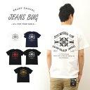 『60's STORY』 JEANSBUG ORIGINAL PRINT T-SHIRT オリジナルアメカジプリント 半袖Tシャツ アメリカ大陸 バイク ストーリー メンズ レディース 大きいサイズ ビッグサイズ対応 【ST-60STY】