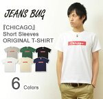 ��CHICAGO��JEANSBUGORIGINALPRINTT-SHIRT���ꥸ�ʥ륷�������ᥫ���ץ���ȾµT����ĥܥå����?��󥺥�ǥ������礭���������ӥå��������б���ST-CHICAGO��