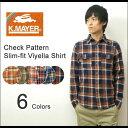【レビューを書いて5%OFF!】選べる6色♪渋カラーのタイトフィットシャツ! KRIFF MAYER(ク...
