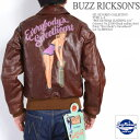 """BUZZ RICKSON'S バズリクソンズ GIL ELVGREN COLLECTION A-2 フライトジャケット """"ROUGH WEAR CLOTHING CO."""" Paint """"Everybody's Sweetheart"""" ピンナップガール BR80424"""
