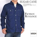SUGAR CANE シュガーケーン 長袖シャツ FICTION ROMANCE 4.5oz. ポルカドット 長袖ワークシャツ SC27077【再入荷】