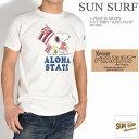 """SUN SURF サンサーフ × PEANUTS ピーナッツ スヌーピー コラボ Tシャツ """"ALOHA STATE"""" 半袖Tシャツ SS78225-105"""