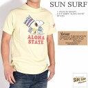 """SUN SURF サンサーフ × PEANUTS ピーナッツ スヌーピー コラボ Tシャツ """"ALOHA STATE"""" 半袖Tシャツ SS78225-155"""