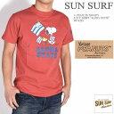 """SUN SURF サンサーフ × PEANUTS ピーナッツ スヌーピー コラボ Tシャツ """"ALOHA STATE"""" 半袖Tシャツ SS78225-165"""