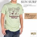 """SUN SURF サンサーフ × PEANUTS ピーナッツ スヌーピー コラボ Tシャツ """"HAWAIIAN HULA"""" 半袖Tシャツ SS78226-143"""