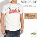 """SUN SURF サンサーフ × PEANUTS ピーナッツ スヌーピー コラボ Tシャツ """"HAWAII"""" 半袖Tシャツ SS78228-105"""