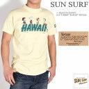 """SUN SURF サンサーフ × PEANUTS ピーナッツ スヌーピー コラボ Tシャツ """"HAWAII"""" 半袖Tシャツ SS78228-155"""