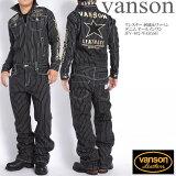 【当店別注】バンソン VANSON ツナギ つなぎ ワンスター 刺繍&ワッペン デニム オールインワン JFV-602-WABASH【再入荷】