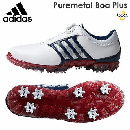 【ゴルフ】【スパイクシューズ】アディダス adidas PURE METAL BOA PLUS ピュアメタル ボア プラス メンズシューズ Q44895