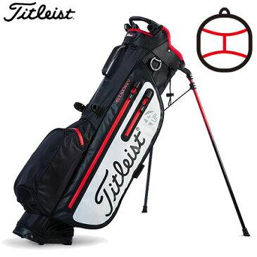 【ゴルフ】【キャディーバッグ】タイトリスト Titleist メンズ PLAYERS 4UP STADRY スタンドバッグ TB8SX2 BK/WT 日本正規品