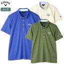 キャロウェイ メンズ ボタンダウン カラーシャツ 241-9157517 ベージュ、ブルー、カーキ Callaway 2019春夏