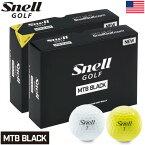 スネルゴルフ 2019 MTB BLACK 3ピース キャストウレタンカバー ゴルフボール 1ダース USA直輸入品【R&A/USGA公認球】【2018 HOTLIST 金賞】【コンプレッション:75-80】【ディンプル数:360個】