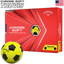 【日/祝も発送】キャロウェイ 2020 CHROME SOFT TRUVIS クロムソフト トゥルービス イエロー×ブラック ゴルフボール 1ダース USA直輸入品 2020年モデル【USパッケージ】・・・