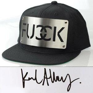 【karl alley】カールアリー,FUCKシルバーメタルプレートCAP,キャップ メンズ,ストリート キャ...
