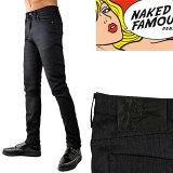 naked&famousdenimスキニーブラック