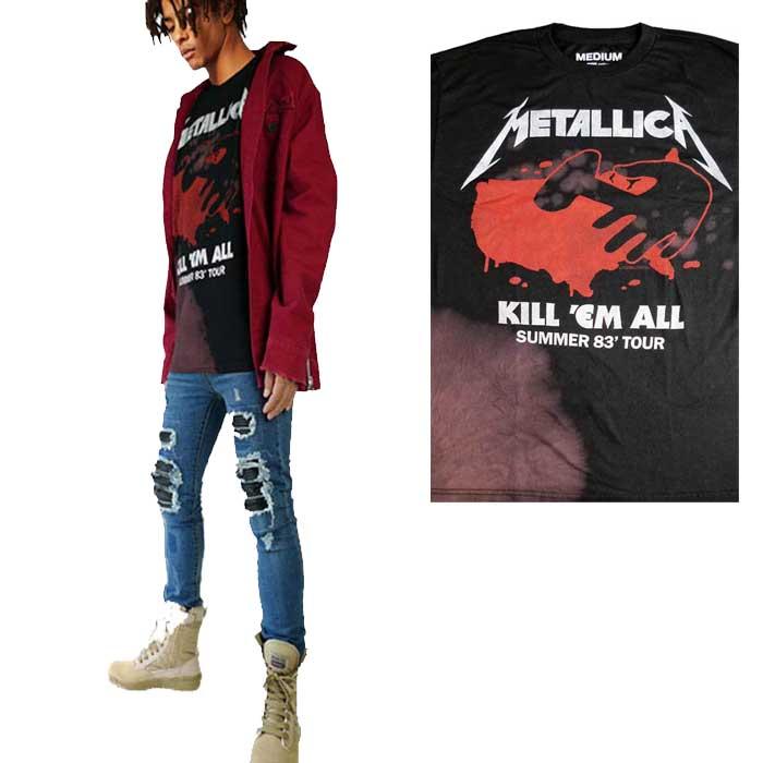 トップス, Tシャツ・カットソー metallica()T VINTAGE WEAR LA() KILL ME ALL ()t t t t