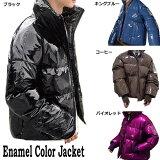 エナメル光沢ジャケット中綿
