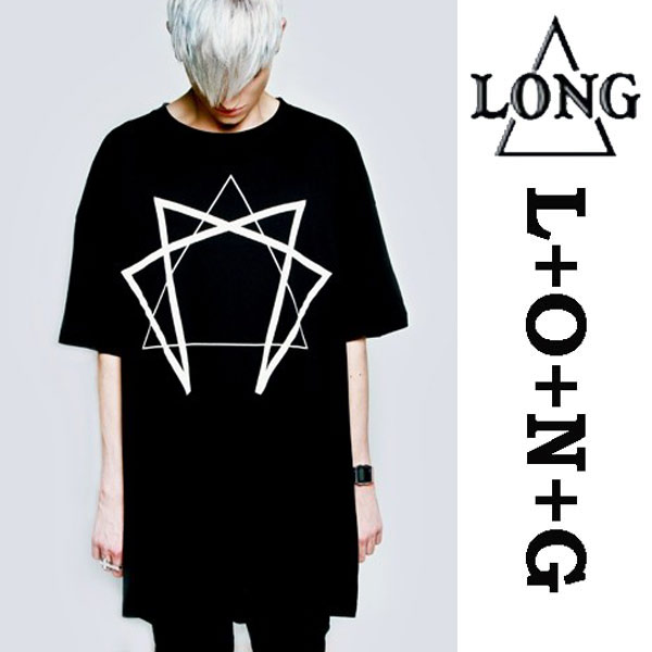 longclothing ロングクロージング EnneagramグラフィックTシャツ/パンクファッショ...