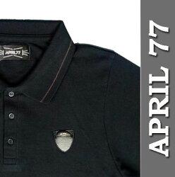 11%OFFAPRIL77MANCHESTERPOLOBLACKエイプリル77タイトなブラック・ポロシャツ半袖,胸のピックに視線集中,復活のapril77april77,april77,エイプリル77,polo,ロックファッション,ポロシャツ,レビュー特典【あす楽対応】05P14Sep12