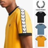 FREDPERRYローレルテープTシャツ(フレッドペリー)