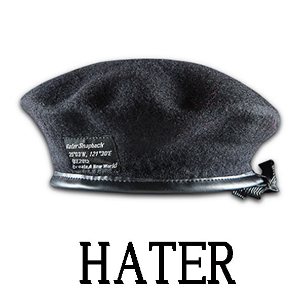 HATER SNAPBACK ヘイター スナップバック ベレー帽 ブラック アーミーベレー ミリ...