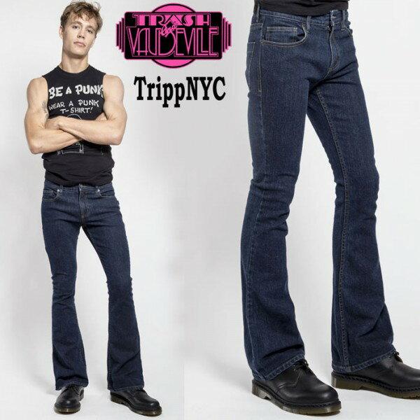 ブーツカット ジーンズ TRIPP NYC ブーツカット インディゴ デニム tripp nyc パ...