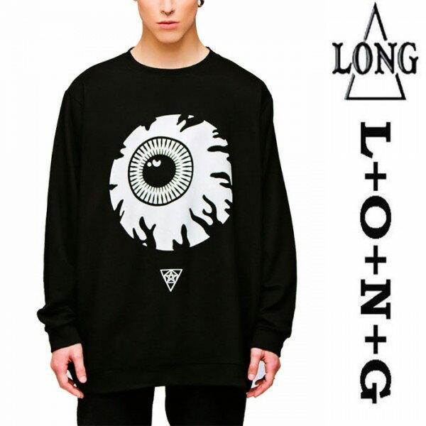 LONG CLOTHING ロングクロージング MISHKA ミシカ コラボ 長袖Tシャツ ブラック ロ...
