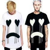 long clothing ロングクロージング DRIPPY グラフィック Tシャツ 2カラー/ パンク ロック ファッション ロックtシャツ ユニセックス BOYLONDON ボーイロンドン (ビッグtシャツ メンズ カップル ペアルック Tシャツ)パンクロック モード系 ストリート