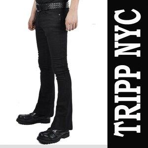 ブラック ジーンズ トリップニューヨーク ファッション ロカビリー スキニー