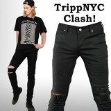 TRIPPNYCトリップニューヨークダメージスキニーパンツ