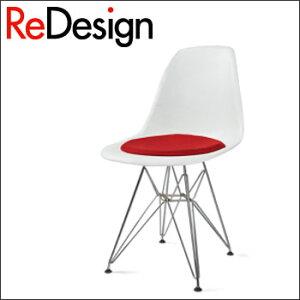 【送料無料】チェアシェルサイドチェア DSR クッション付き / イームズShell Side Chair DSR wi...