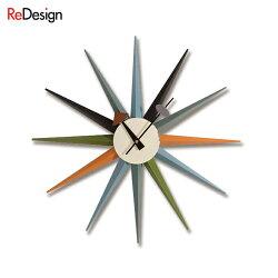 【特別価格!限定SALE】時計壁掛け時計ネルソンクロックサンバーストクロックマルチ/ジョージ・ネルソン【0415】