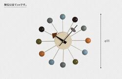 【特別価格!限定SALE】時計壁掛け時計ネルソンクロックボールクロック/ジョージ・ネルソン【0415】
