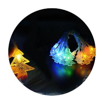 クリスマス 飾り クリスマスツリー型 電池式 LED 2M 20球 2モード点灯 ストリングライト イルミネーション クリスマス 飾り 玄関 イルミネーション LED カラフル