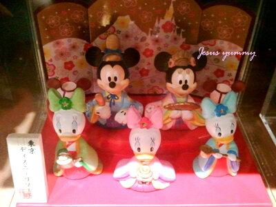 ディズニー2014ひな人形(中)雛人形ひな祭りお雛さまミッキー&ミニー、仲間たち東京ディズニーリゾートお土産袋付き♪【Disney】