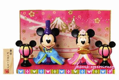 ディズニー2017ひな人形(小)雛人形ひな祭りお雛さまミッキーミニー桃の節句インテリアにも♪東京ディズニーリゾートお土産袋付き♪【Disney】
