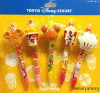 ボールペン 5本セット ディズニーファンフード ミッキー ミニー DISNEY FUN FOOD 東京ディズニーリゾート限定 【DISNEY】