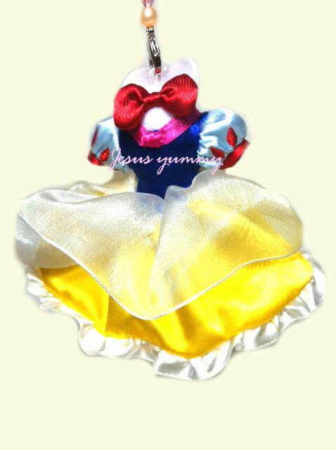 【東京ディズニーリゾート限定】白雪姫ドレス携帯電話クリーナー・ストラップ☆ディズニーリゾート